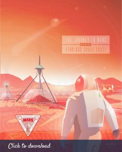 Mars Art Print Digital Download 8x10
